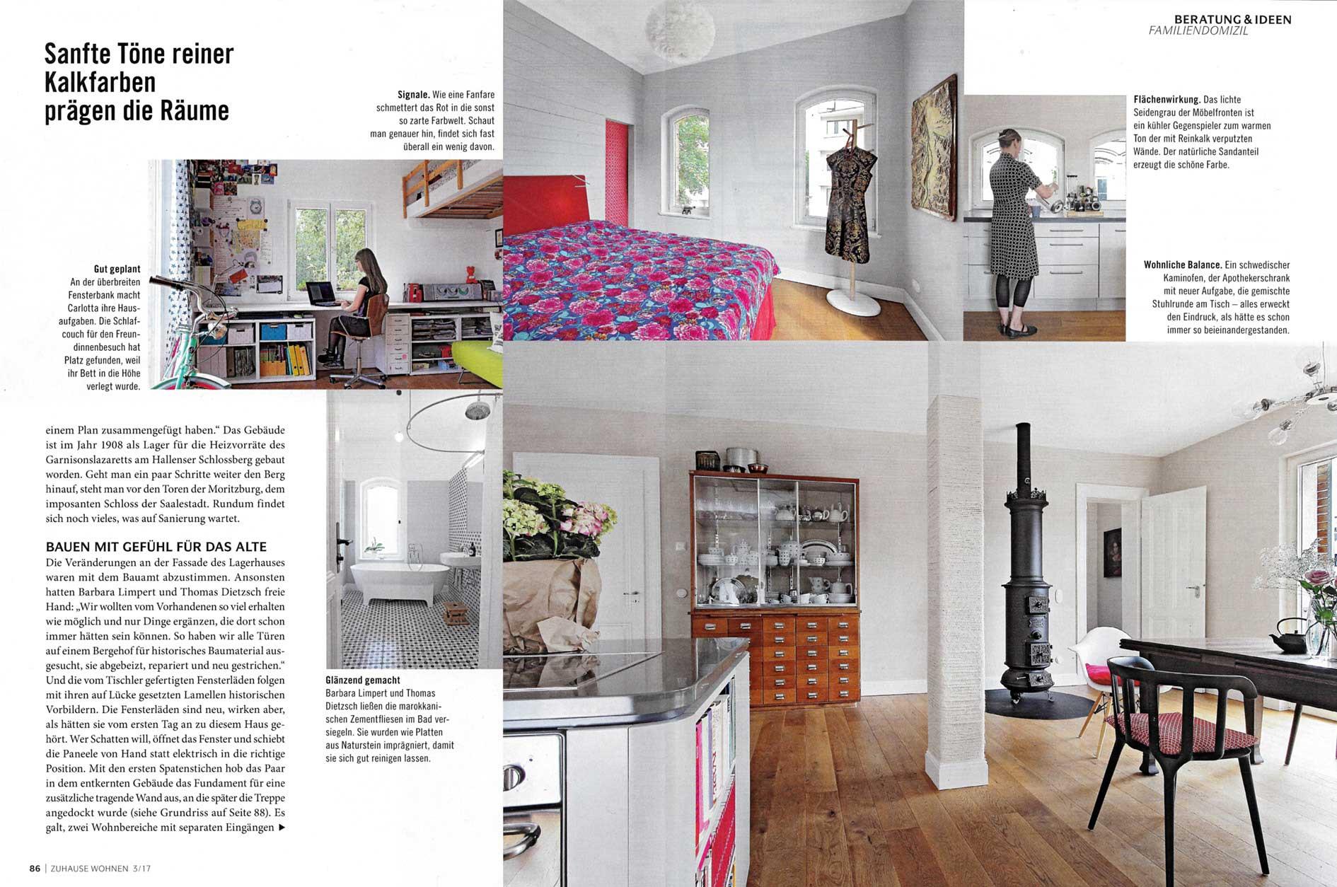 Veröffentlichung Zuhause Wohnen 03/2017 | Barbara Limpert Architekt