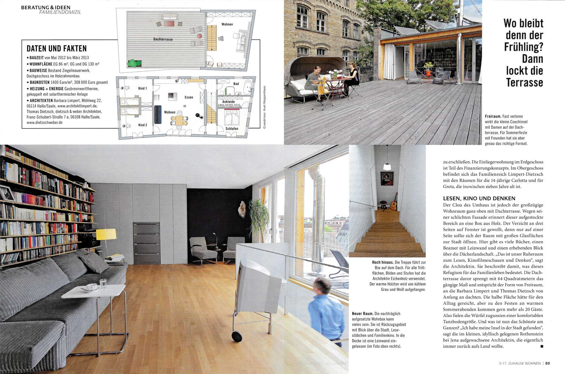 Veröffentlichung Zuhause Wohnen 03/2017   Barbara Limpert Architekt